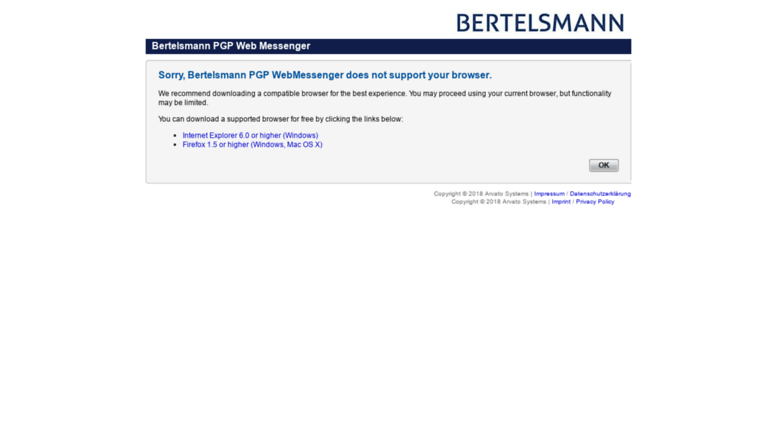 Access pgpweb bertelsmann de  Bertelsmann Encryption Server: PGP