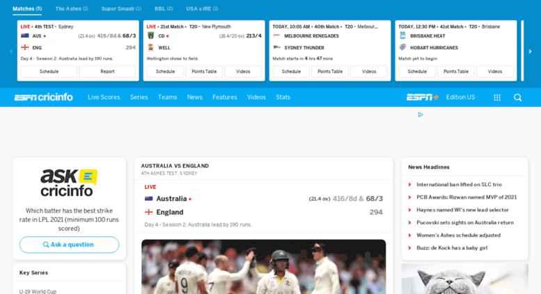 Access Phone Espncricinfo Com Check Live Cricket Scores Match Schedules News Cricket Videos Online Espncricinfo Com