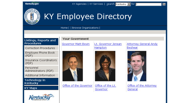 Access phone ky gov  Kentucky: State Employee Directory