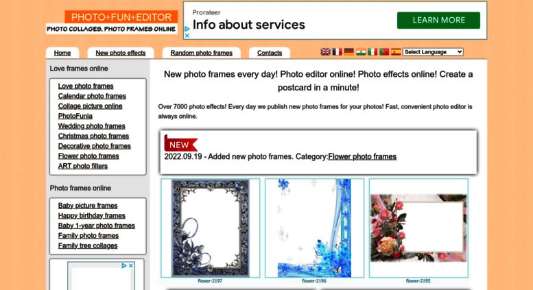 Access photofuneditor.com. New Photo Frames every Day! Photo Editor ...