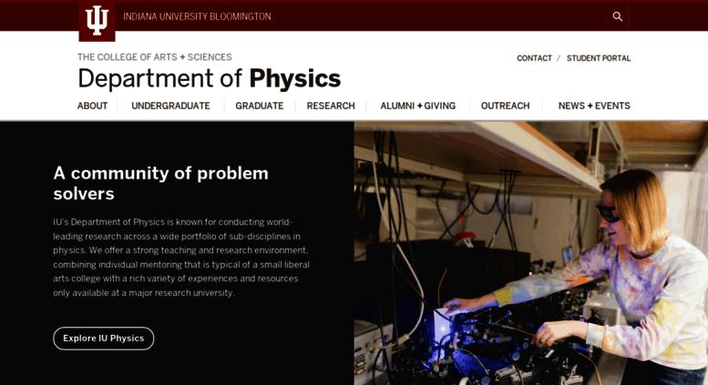Access physics indiana edu  Department of Physics | Indiana