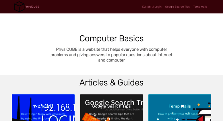 Access physicube neocities org  PhysiCUBE - Computer Basics
