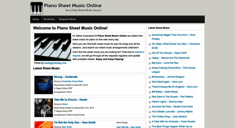 Access Pianosheetmusiconlinecom Piano Sheet Music Online