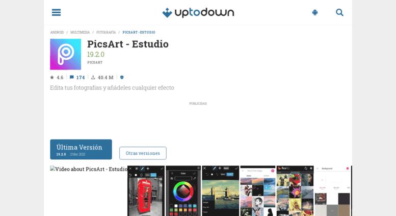 Access picsart-estudio uptodown com  PicsArt - Estudio 12 4 7 para