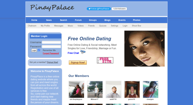 Online dating chat room with games