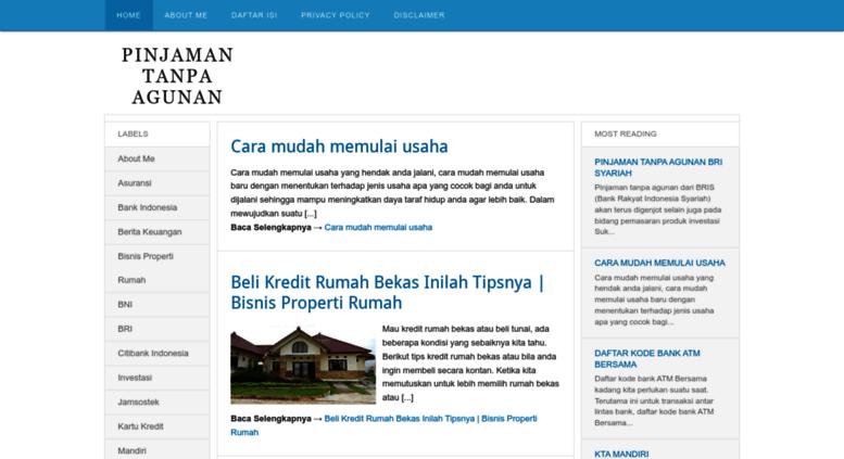 Access Pinjaman Tanpaagunan Blogspot Com Pinjaman Tanpa Agunan