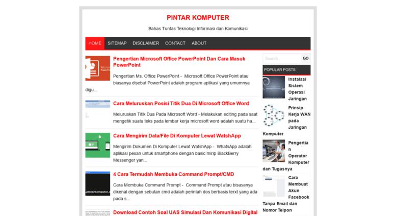 Access pintarkomputer.org. Pintar Komputer
