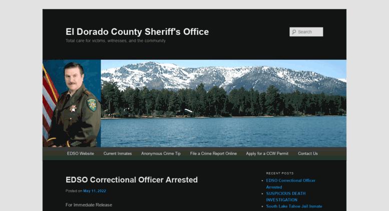 Access pio edso org  El Dorado County Sheriff's Office