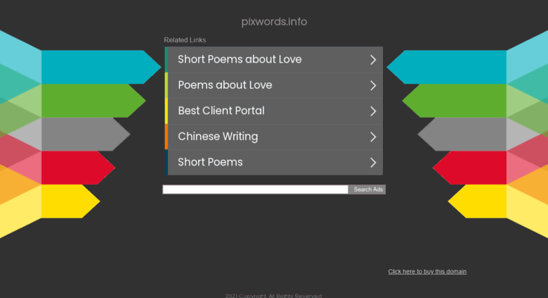 Pixwords Info Screens