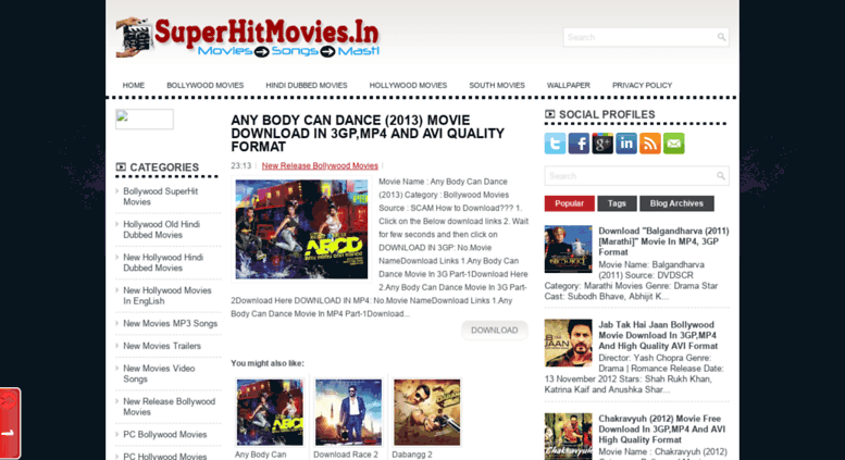 Access placeofmovies blogspot com  SuperHitMovies In | All