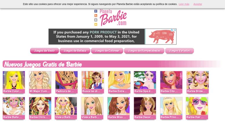 Access Planetabarbiecom Planeta Barbie Jugar A Juegos De