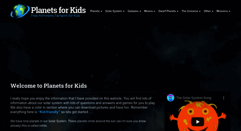 Access planetsforkids org  Planets For Kids - Solar System