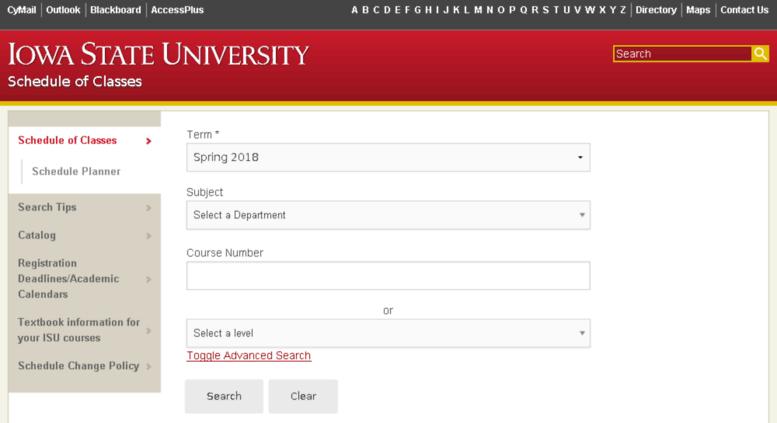 Isu Academic Calendar.Access Planner Iastate Edu Schedule Of Classes Iowa State University