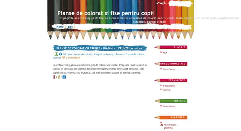 Access Planseblogspotro Planse De Colorat Si Fise Pentru
