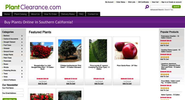 Plantclearance Screenshot