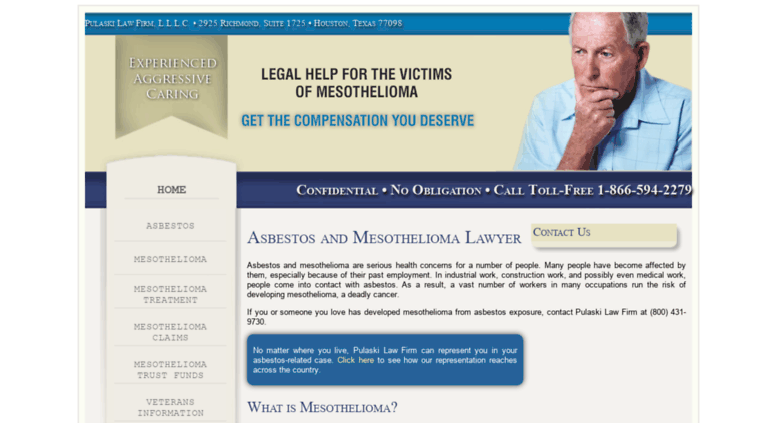 Pulaski Law Firm >> Access Pmmeso Com Mesothelioma Lawyer Pulaski Law Firm