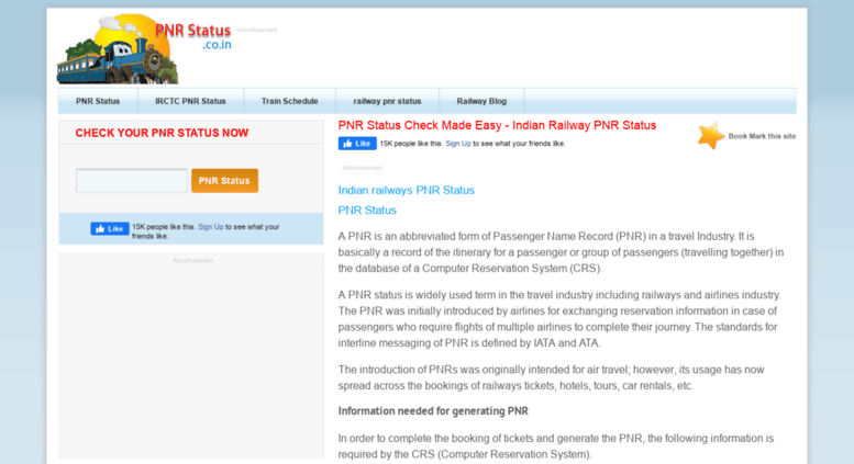 www. indian railway pnr status