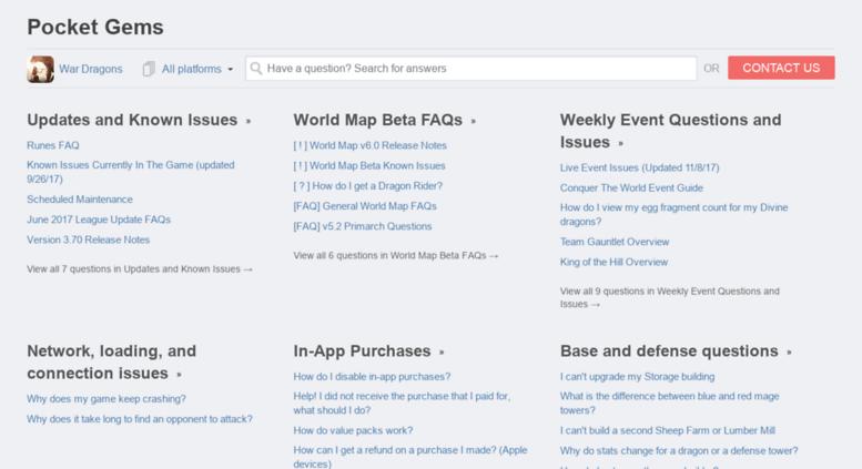 Access pocketgems helpshift com  Pocket Gems Support