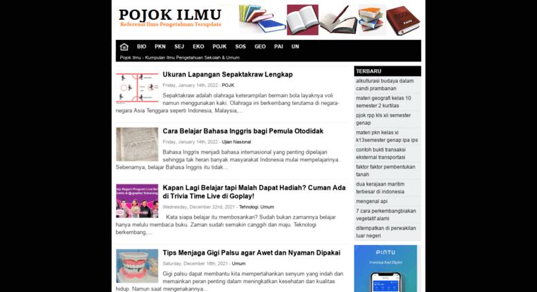 Access Pojokilmu Com Pojok Ilmu Kumpulan Ilmu Pengetahuan Sekolah