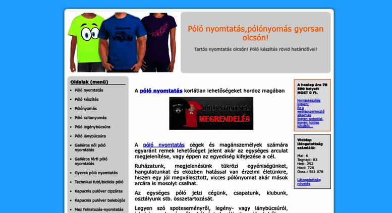 dadaa18bf8 Access polokeszites.hupont.hu. • Póló nyomtatás,pólónyomás gyorsan ...