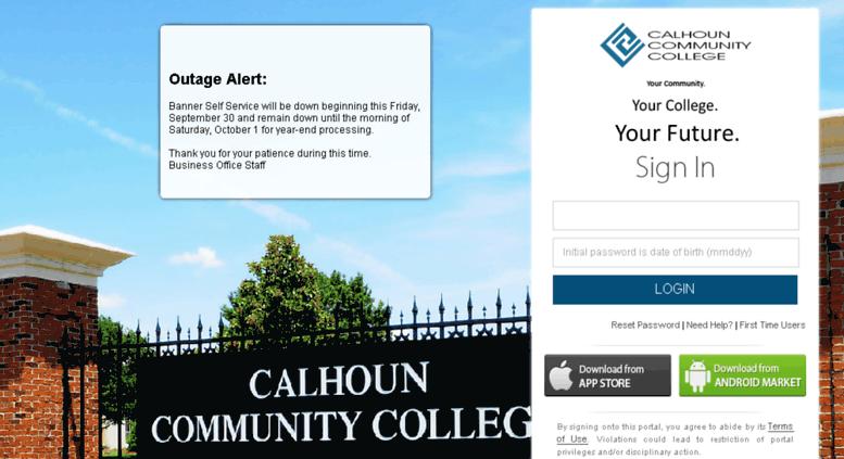 Access Portalcalhounedu Calhoun Identity Server