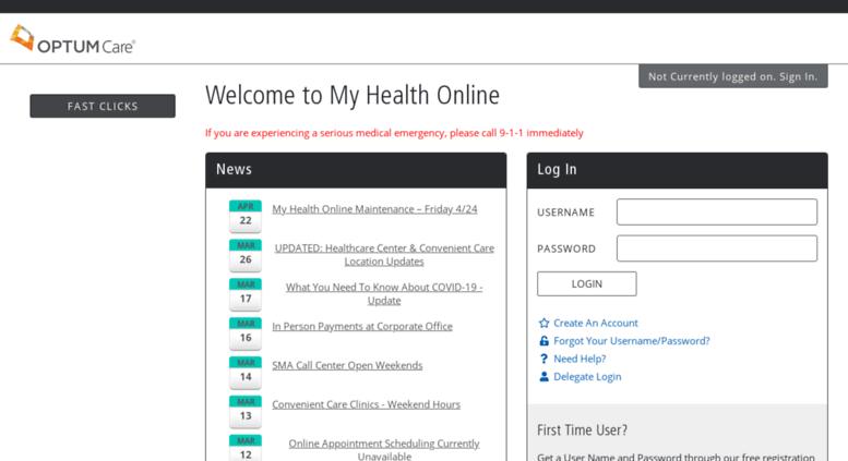 Access portal smalv com  My SMA Health Online