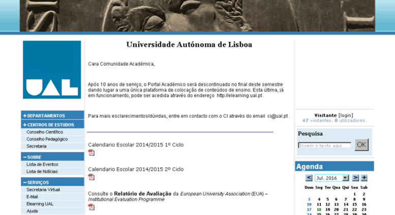 Calendario Ual.Access Portal Ual Pt Portal Academico