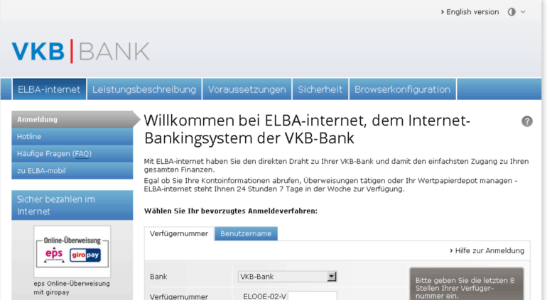 Vkb Bank Elba