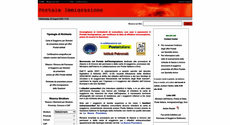 Access portaleimmigrazione.it. Il Portale Immigrazione