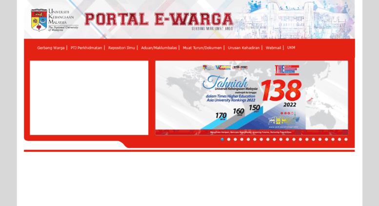 Access Portalewarga Ukm My Portal Ewarga Universiti Kebangsaan Malaysia