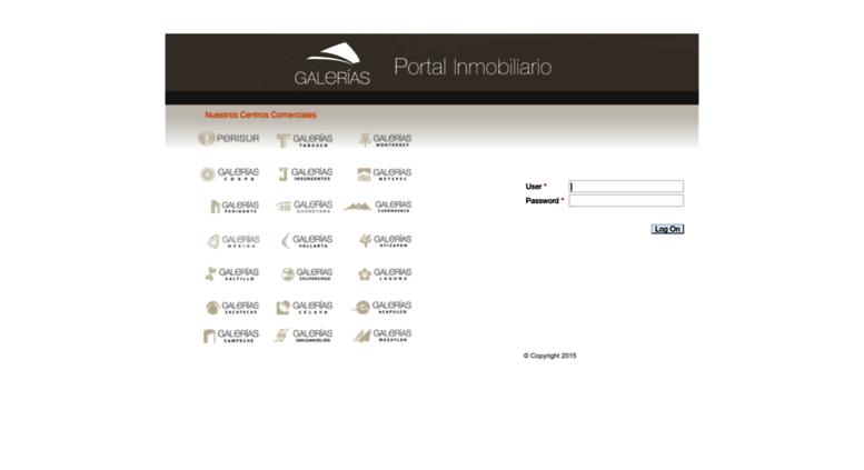 Access portalinquilinos galerias com  SAP NetWeaver Portal