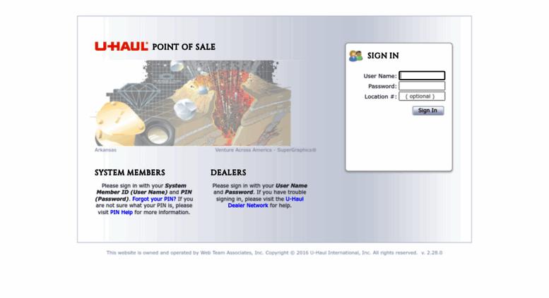 Access Pos Uhaul Net U Haul Point Of Sale Sign In