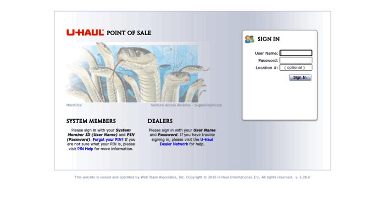 Access Poslogin Uhaul Net U Haul Point Of Sale Sign In