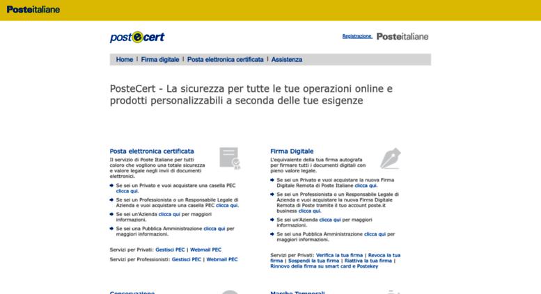 posta italia on line