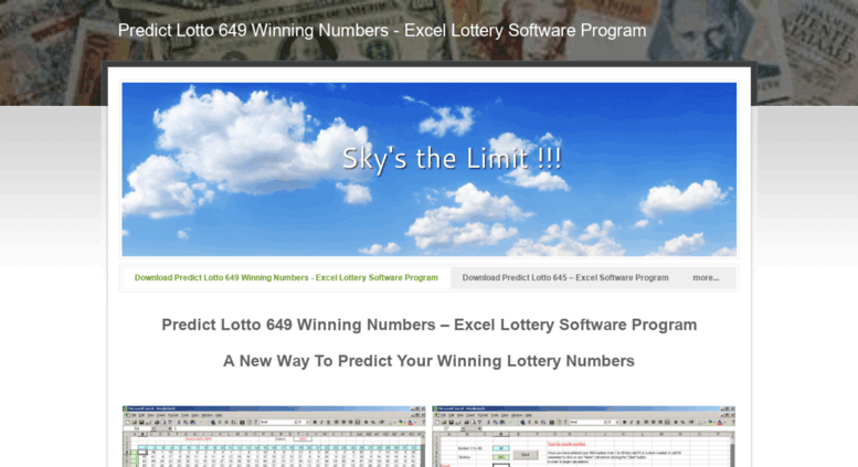 Access predict649 weebly com  Predict Lotto 649 Winning