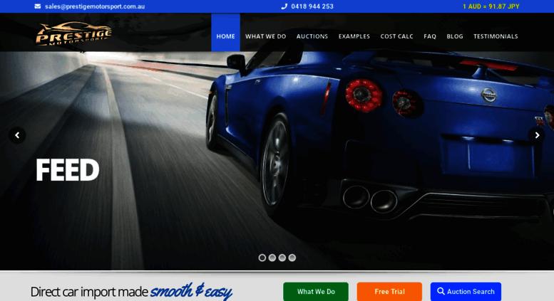 Access prestigemotorsport com au  Buy Japanese Import Cars