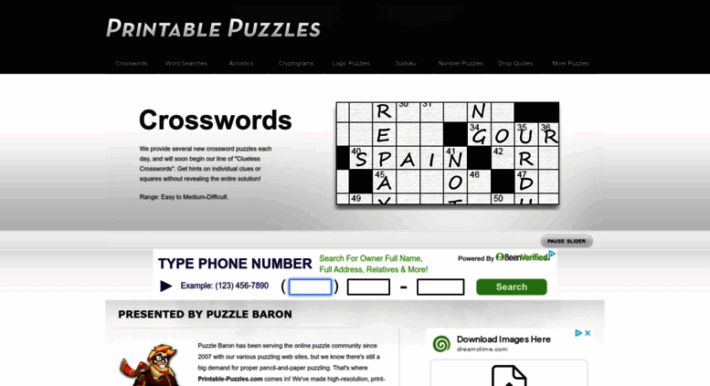photo relating to Printable Thomas Joseph Crossword Puzzle for Today named Attain . Printable Puzzles