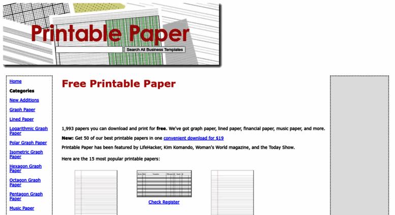 access printablepaper net printable paper