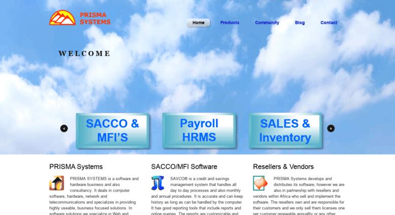 Access prismasystems com  PRISMA Systems: Business Software