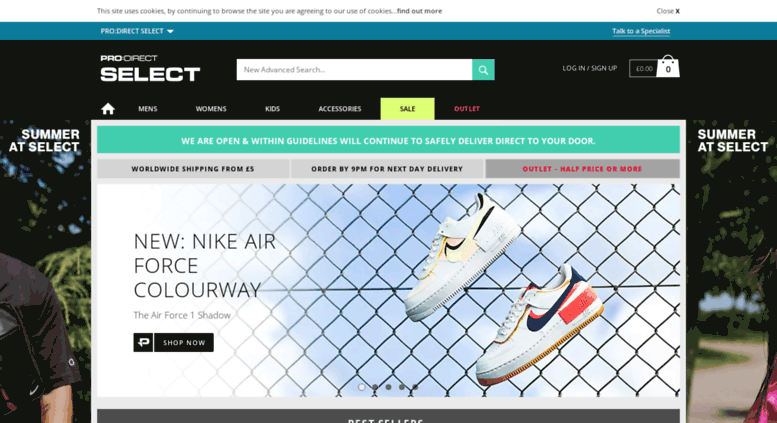 Access prodirectselect.com. Trainers   Clothing  cac8a0768