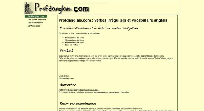 Access Profdanglais Com Verbes Irreguliers Et Vocabulaire Anglais Profdanglais Com