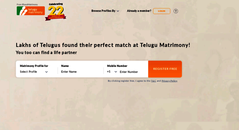 Access profile telugumatrimony com  Telugu Matrimony - The