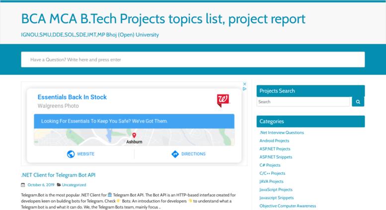 Bca Project Topics List