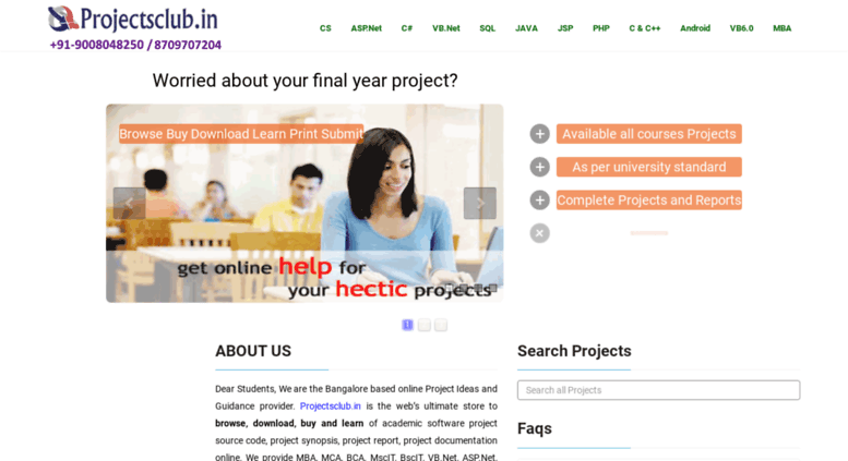 Access projectsclub in  Final Year College Projects | Free