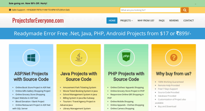 Access projectsforeveryone com  Java, ASP Net, PHP, Android Projects
