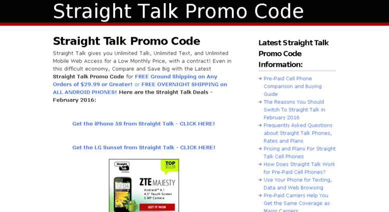 Access promo-code-deals com  — Straight Talk Promo Code