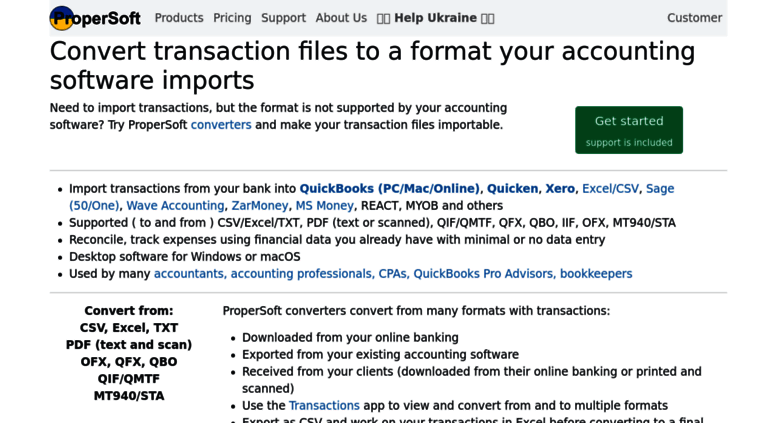 Access propersoft net  ProperSoft: Import into QuickBooks