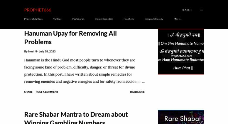 Access prophet666 com  Prophet666