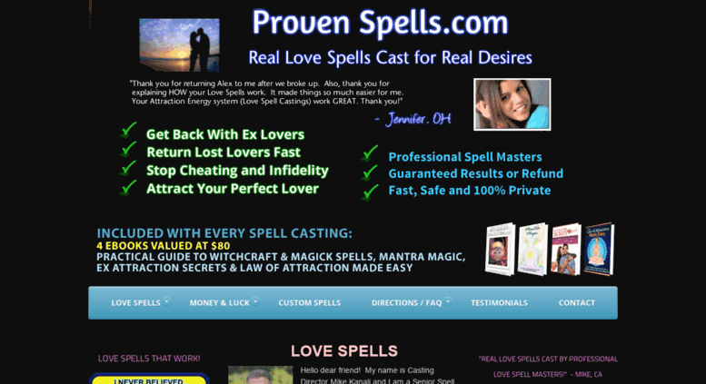 Access provenspells com  Love Spells that Really Work - Free Love