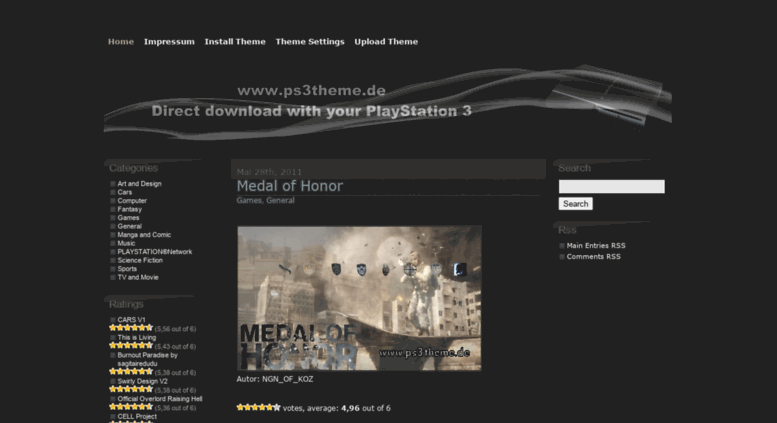Access ps3theme de  PS3 Themes – PlayStation 3 Themes – Free
